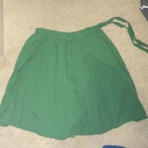 Green J. Crew Skirt